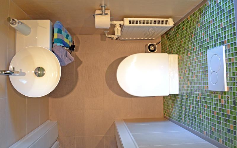 Runderneuerung für ein kleines Gäste-WC